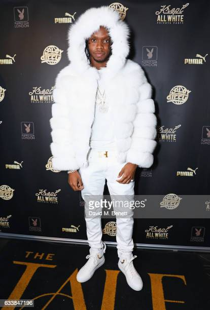 Krept attends his all white attire private birthday party at The Playboy Club on February 4 2017 in London England