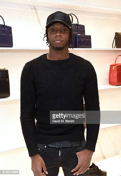 Krept attends the Giuseppe Zanotti London flagship store launch on October 26 2016 in London England
