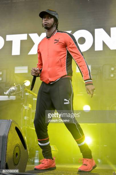 Krept of Krept and Konan performs on stage at Roskilde Festival on July 1 2017 in Roskilde Denmark