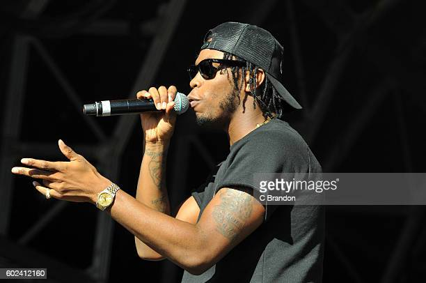 Krept of Krept and Konan performs on stage during Day 4 of Bestival at Robin Hill Country Park on September 11 2016 in Newport Isle of Wight