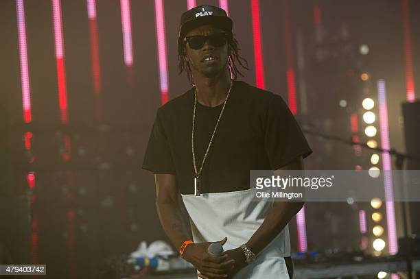 Krept of Krept and Konaon performs onstage during day 1 of New Look Wireless Festival 2015 at Finsbury Park on July 3 2015 in London England