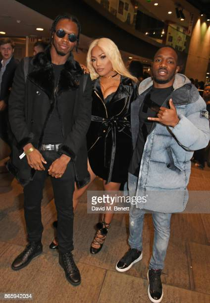 Krept Stefflon Don and Konan attend The KA GRM Daily Rated Awards at The Roundhouse on October 24 2017 in London England