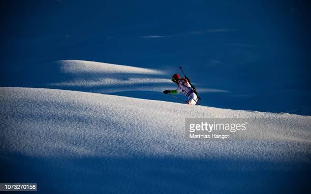 Kresimir Crnkovic of Croatia competes in the IBU Biathlon World Cup Men's 10 km Sprint on December 14 2018 in Hochfilzen Austria