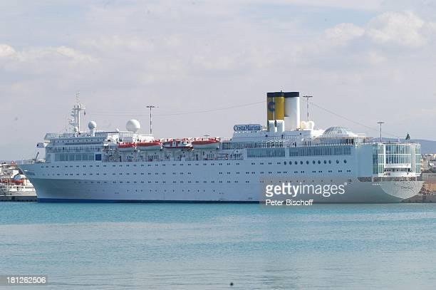 Kreuzfahrtschiff Costa Marina Hafen von Heraklion Insel Kreta Griechenland Europa Mittelmeer ProdNr 188/2006 Kreuzfahrt Schiff Meer Seitenansicht...