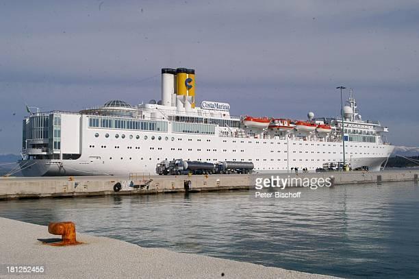 Kreuzfahrtschiff Costa Marina Hafen von Korfu Insel Korfu Griechenland Europa Mittelmeer ProdNr 188/2006 Seitenansicht Kreuzfahrt Schiff Meer Reise