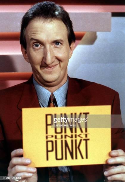 Krüger, Schauspieler, Sänger, Comedian, Porträt aus der Spielshow 'Punkt, Punkt, Punkt', 1993. Musik, 90er.
