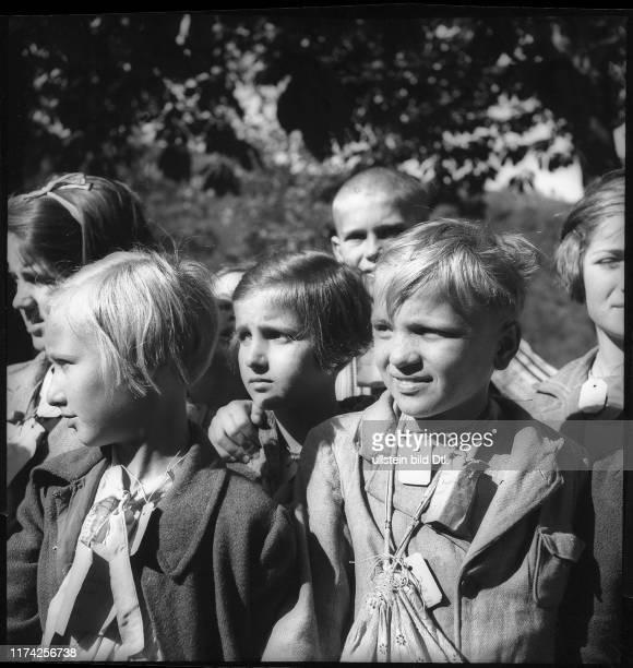 Kriegsflüchtlinge; Kinder aus Serbien; 1942