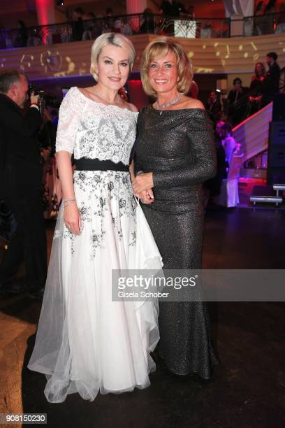 Kriemhild Jahn and Dagmar Woehrl during the German Film Ball 2018 party at Hotel Bayerischer Hof on January 20 2018 in Munich Germany