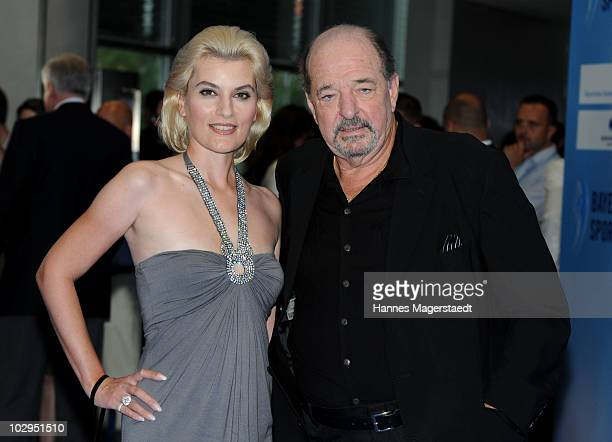 Kriemhild JahnSiegel and Ralph Siegel attend the Bavarian Sport Award 2010 at the International Congress Center Munich on July 17 2010 in Munich...