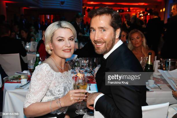 Kriemhild Maria Siegel and Joerg Oppermann during the German Film Ball 2018 at Hotel Bayerischer Hof on January 20 2018 in Munich Germany