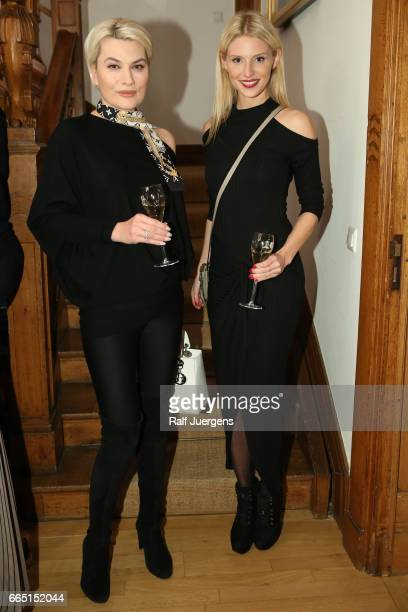 Kriemhild Siegel and Stefanie Seiffert attend the La Martina get together at their showroom on April 5 2017 in Duesseldorf Germany