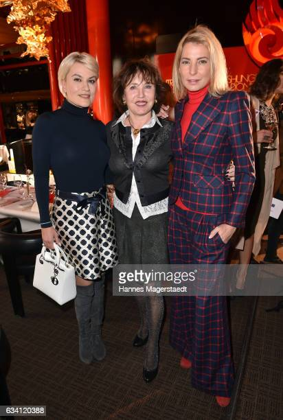 Kriemhild Siegel Dunja Siegel and Giulia Siegel during the 'DKMS Life Charity Ladies Lunch' at Tantris Restaurant on February 7 2017 in Munich Germany