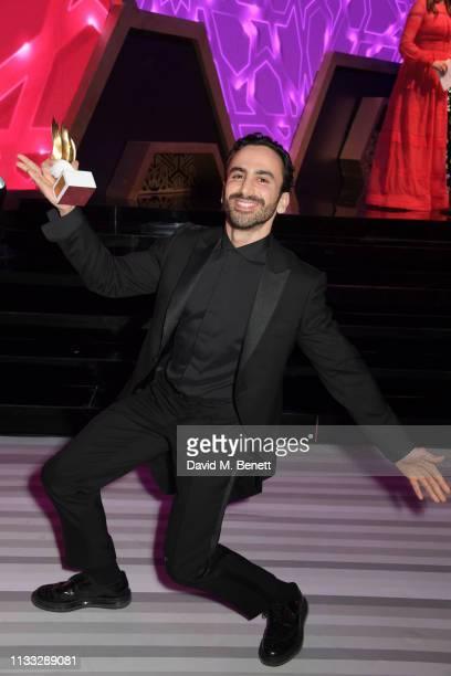 Krikor Jabotian, winner of the Eveningwear award, attends the Fashion Trust Arabia Prize awards ceremony on March 28, 2019 in Doha, Qatar.