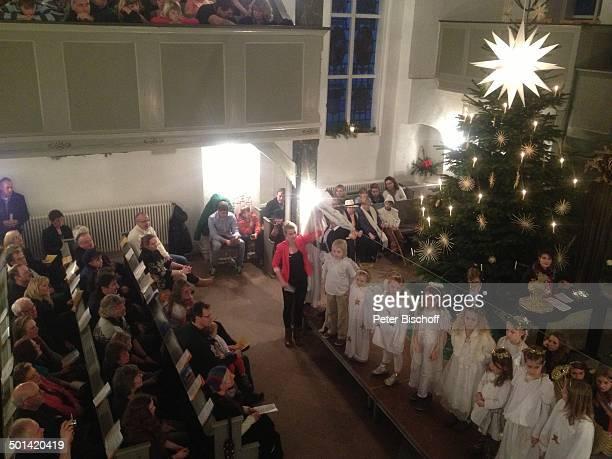 Krippenspiel bei KinderWeihnachtsmesse Zionskirche Worpswede Teufelsmoor Niedersachsen Deutschland Europa Künstlerdorf Künstlerkolonie Kirche...