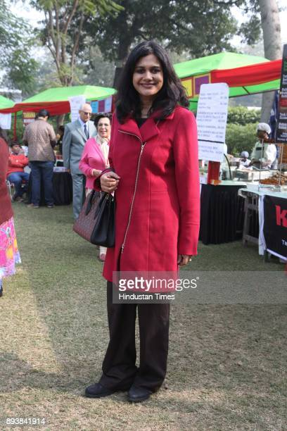 Kriritka K Jayaraman during the Winter Carnival 2017 organised by NGO Tamanna at the Residence of British High Commissioner on December 15 2017 in...