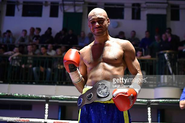 Kris AgyeiDua celebrates after defeating Freddie Turner for the Southern Area Super Welterweight title at York Hall hosts Championship Boxing on...