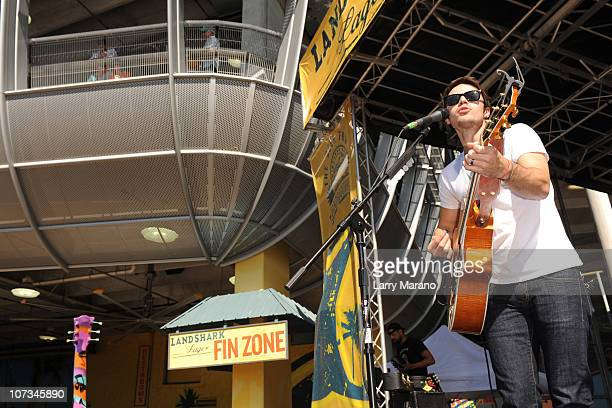 Kris Allan performs during the tailgate show at the Miami Dolphins game at Sun Life Stadium on December 5, 2010 in Miami, Florida.