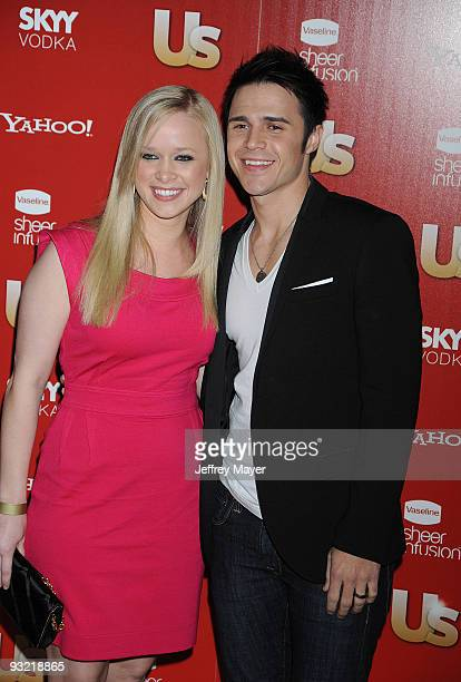 Kris Allen and wife Katy O'Connell arrive at US Weekly's Hot Hollywood 2009 Voyeur on November 18 2009 in West Hollywood California