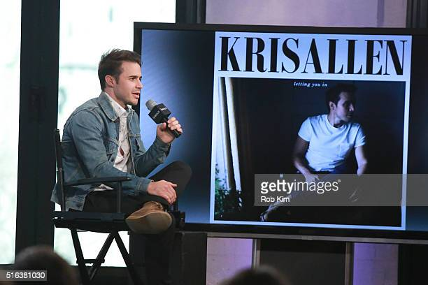 Kris Allen attends AOL Build Speaker Series to discuss Letting You In at AOL Studios In New York on March 18 2016 in New York City