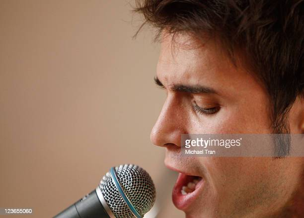 """Kris Allen performs at KIIS FM's 7th Annual """"Pick Your Purse Party"""" held at Il Cielo on November 17, 2010 in Beverly Hills, California."""