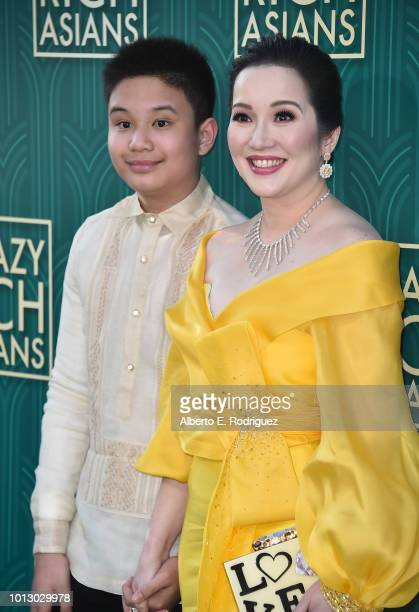 """Kris Aquino attends the premiere of Warner Bros. Pictures' """"Crazy Rich Asiaans"""" at TCL Chinese Theatre IMAX on August 7, 2018 in Hollywood,..."""