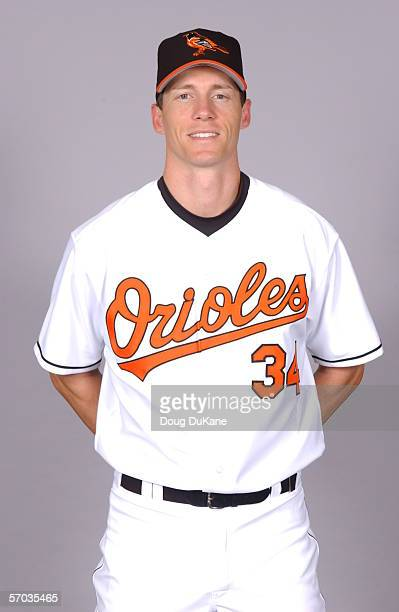 Kris Benson of the Baltimore Orioles during photo day at Ft Lauderdale Stadium on February 27 2006 in Ft Lauderdale Florida