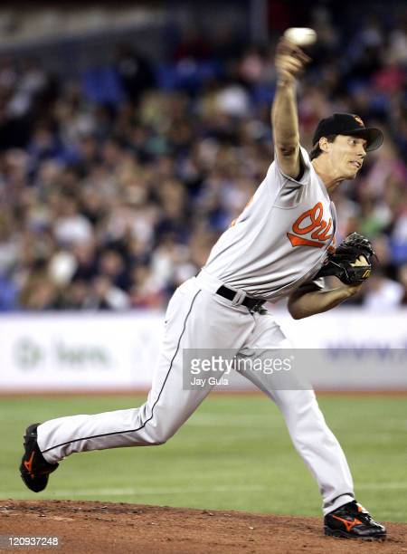 Kris Benson started for the Baltimore Orioles against the Toronto Blue Jays at Rogers Centre in Toronto Canada April 27 2006