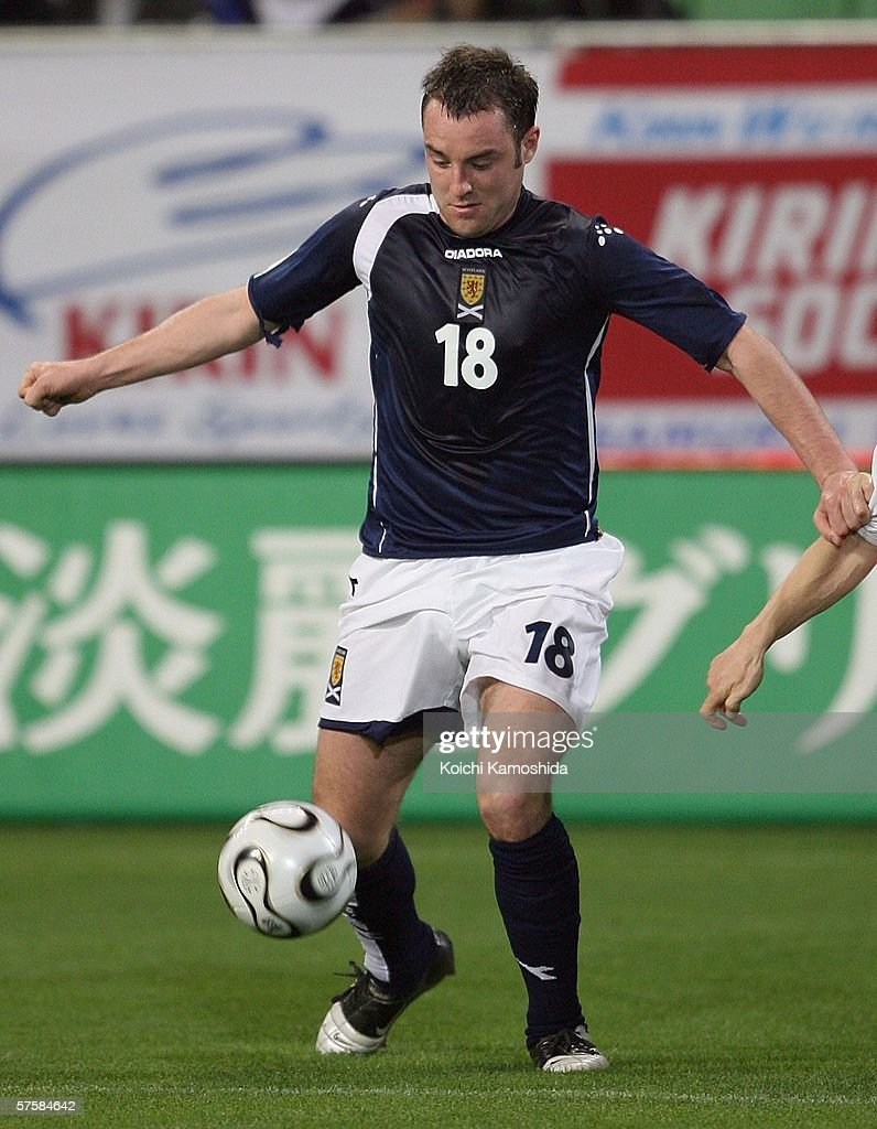Kris Boyd of Scotland in action during the Kirin Cup Soccer 2006 match between Scotland and Bulgaria at the Kobe Wing Stadium on May 11, 2006 in Kobe, Japan.
