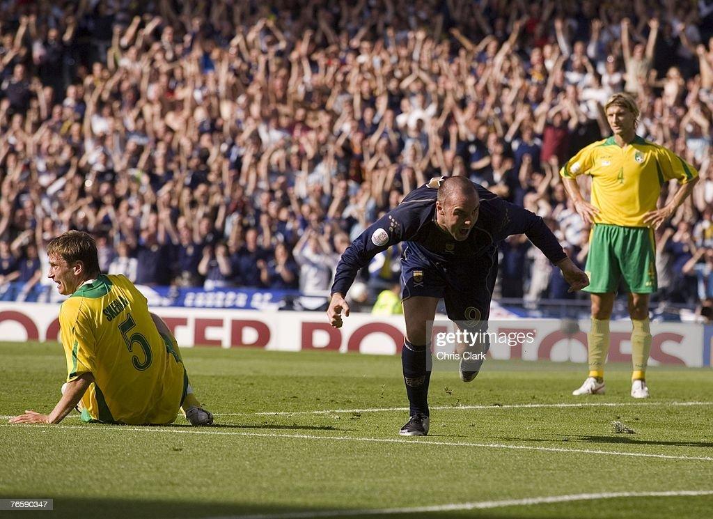 Euro2008 Qualifier - Scotland v Lithuania : News Photo