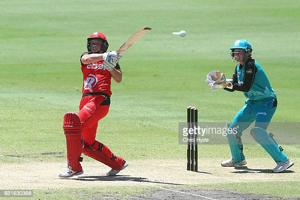 Kris Britt of the Renegades bats during the Women's Big Bash League match between the Brisbane Heat and the Melbourne Renegades at Allan Border Oval...