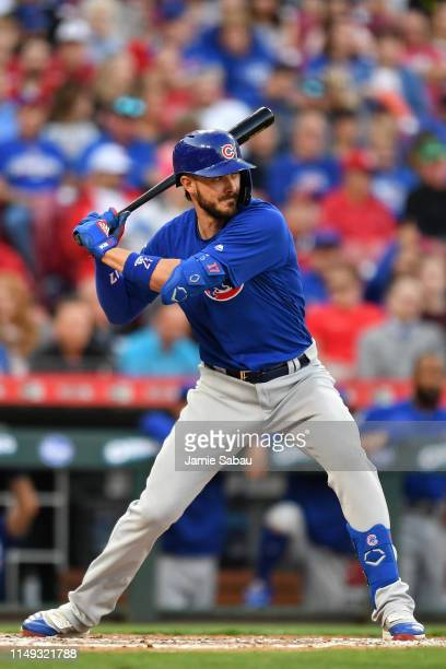Kris Bryant of the Chicago Cubs bats against the Cincinnati Reds at Great American Ball Park on May 14 2019 in Cincinnati Ohio Chicago defeated...