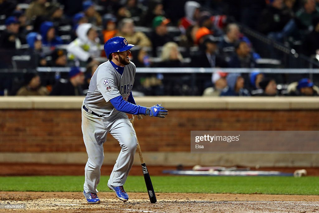 League Championship - Chicago Cubs v New York Mets - Game Two : News Photo