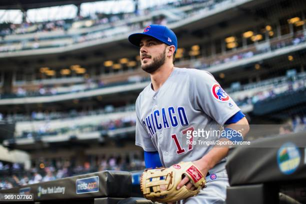 Kris Bryant of the Chicago Cubs looks on before the game against the New York Mets at Citi Field on Friday June 1 2018 in the Queens borough of New...