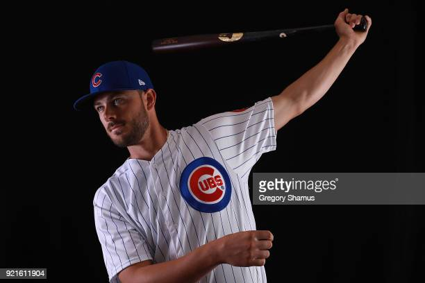Kris Bryant of the Chicago Cubs poses during Chicago Cubs Photo Day on February 20 2018 in Mesa Arizona