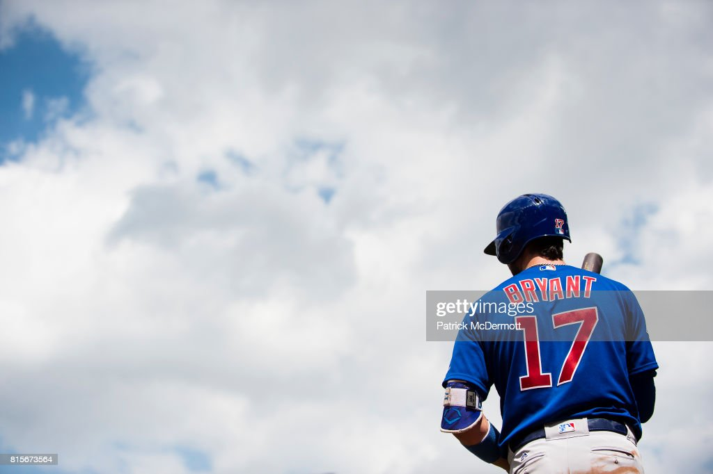 Kris Bryant #17 of the Chicago Cubs prepares to hit against the Baltimore Orioles in the sixth inning during a game at Oriole Park at Camden Yards on July 16, 2017 in Baltimore, Maryland.