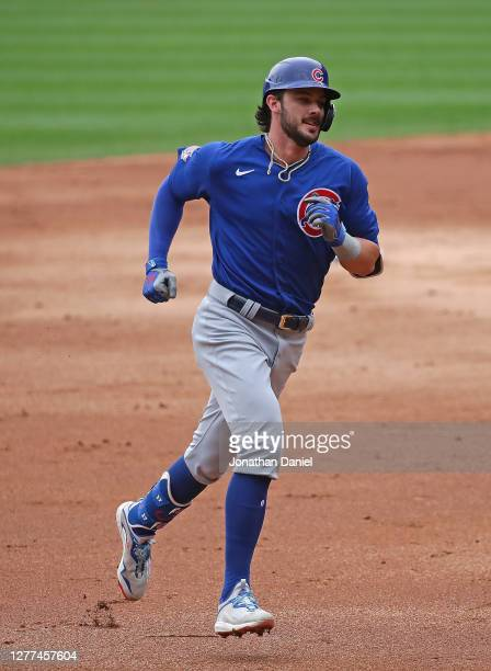 Kris Bryant of the Chicago Cubs runs the bases after hitting a home run against the Chicago White Sox at Guaranteed Rate Field on September 27, 2020...