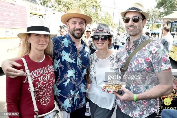 Kris Cardosi Jeff Renard Judy Nimtz and Kenny Harris attend the Venice Family Clinic's Art Walk Auction on May 20 2018 in Venice California