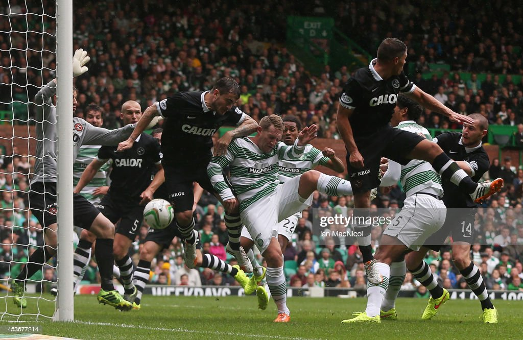 Kris Commons scores for Celtic during the Scottish Premiership League Match between Celtic and Dundee United, at Celtic Park on August 16, 2014 Glasgow, Scotland.