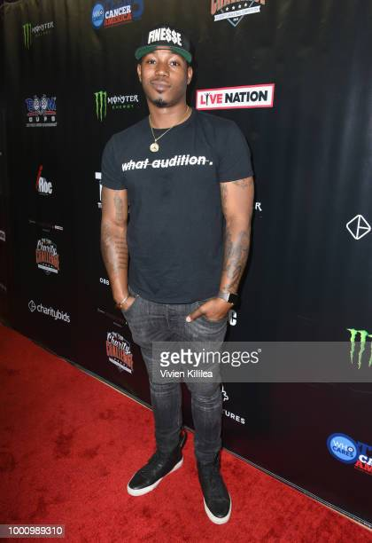 Kris D Lofton attends 50K Charity Challenge Celebrity Basketball Game at UCLA's Pauley Pavilion on July 17 2018 in Westwood California