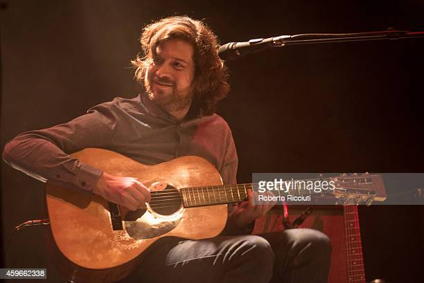 Kris Dever of Lau performs on stage at Queens Hall on November 27 2014 in Edinburgh United Kingdom