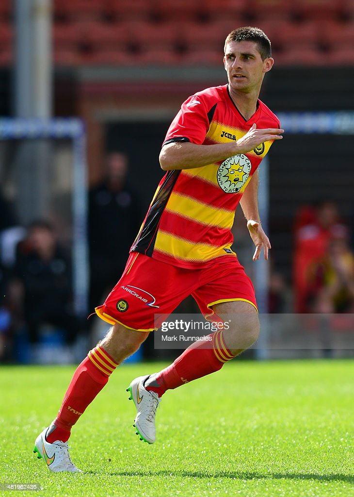 Kris Doolan of Patrick Thistle in action during a pre season friendly match between Patrick Thistle FC and Rotherham United at Firhill Stadium on July 25, 2015 in Glasgow, Scotland.