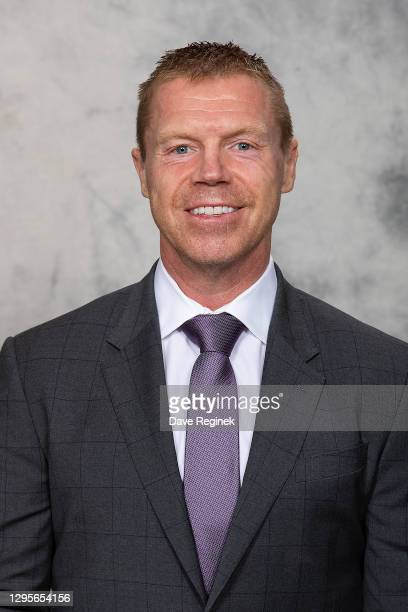 Kris Draper of the Detroit Red Wings poses for his official headshot for the 2020-2021 season at Little Caesars Arena on September 17, 2019 in...