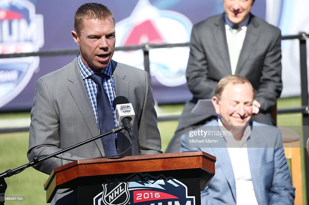 2016 coors light nhl stadium series press event photos and images kris draper of the detroit red wings speaks during the announcement of 2016 coors light nhl aloadofball Gallery