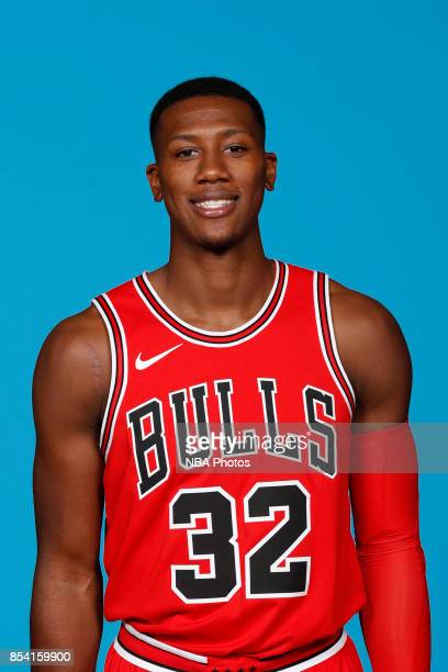 Kris Dunn of the Chicago Bulls poses for a head shot during NBA Media Day on September 25 2017 at the Advocate Center in Chicago Illinois NOTE TO...