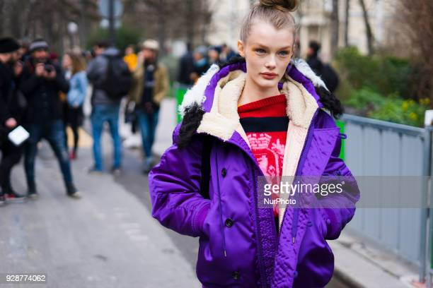 Kris Grikaite attends the Chanel show as part of the Paris Fashion Week Womenswear Fall/Winter 2018/2019 at Le Grand Palais on March 6 2018 in Paris...