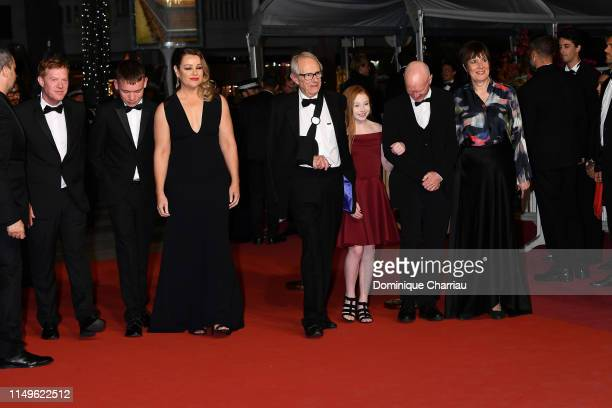 Kris Hitchen Rhys Stone Debbie Honeywood Ken Loach Katie Proctor Paul Laverty and Rebecca O'Brien attend the screening of Sorry We Missed You during...