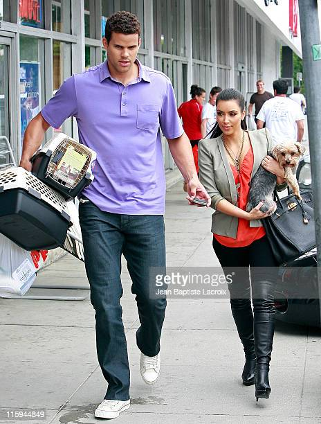 Kris Humphries and Kim Kardashian are seen shopping at Petco on June 12 2011 in Los Angeles California