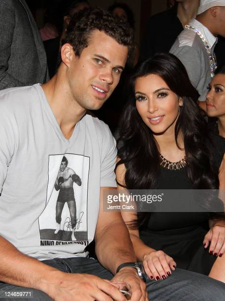 Kris Humphries and Kim Kardashian attend Duane McLaughlin's 'Ready To Live' album release party at Utopia III on September 10 2011 in New York City