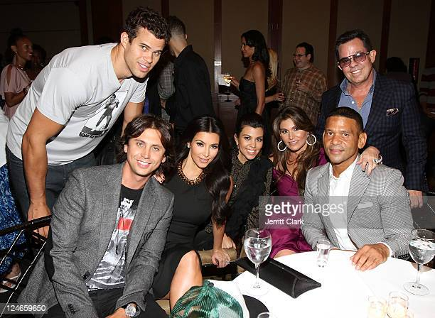 Kris Humphries Jonathan Cheban Kim Kardashian Kourtney Kardashian Loren Ridinger Benny Medina and JR Ridinger attends Duane McLaughlin's 'Ready To...