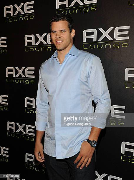 Kris Humphries visits the AXE Lounge on July 30 2011 in Southampton New York